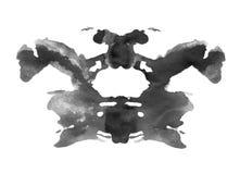 Mancha blanca /negra de la tinta en estilo de la prueba de la psicología del rorschach Imágenes de archivo libres de regalías