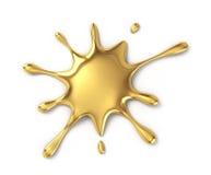 Mancha blanca /negra del oro ilustración del vector
