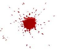 Mancha blanca /negra roja foto de archivo libre de regalías
