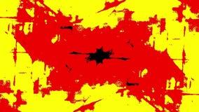 Mancha blanca /negra roja de la tinta en el movimiento stock de ilustración