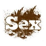 Mancha blanca /negra sucia del sexo Fotos de archivo libres de regalías