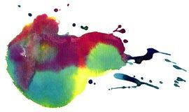 Mancha colorida da aguarela Fotos de Stock