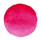 Mancha cor-de-rosa e vermelha da bandeira da aquarela do vetor Fotografia de Stock Royalty Free