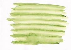 Mancha corriente de la pendiente verde clara de la acuarela Abstrac hermoso ilustración del vector