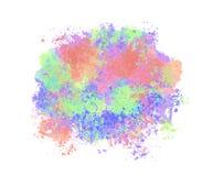 Mancha da aquarela, fundo colorido semi-transparente multicolored ilustração do vetor
