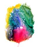 Mancha da aquarela que olha como uma flor da flor ilustração do vetor