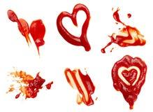 Mancha da ketchup fotografia de stock