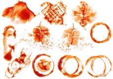 Mancha 2 da ketchup imagens de stock royalty free