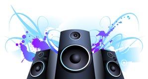 Mancha da violeta do orador Fotografia de Stock