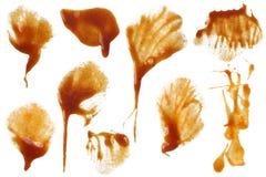 Mancha de óxido 3 de la salsa de tomate Foto de archivo libre de regalías