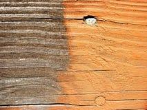 Mancha de óxido de la cubierta - antes y después Imagen de archivo