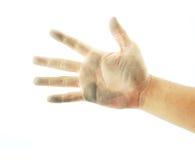 Mancha de óxido de la mano Imagen de archivo libre de regalías