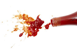 Mancha de óxido de la salsa de tomate fotos de archivo libres de regalías