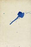 Mancha de óxido de papel vieja de la tinta azul del fondo. Fotos de archivo libres de regalías