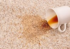 Mancha de óxido del café Fotografía de archivo