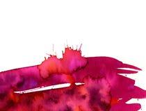 Mancha de óxido rosada Foto de archivo libre de regalías