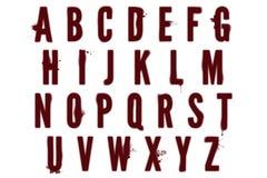 Mancha de sangre Dexter Style Scrapbooking Element del alfabeto de Digitaces Fotos de archivo