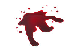 Mancha de sangue imagens de stock royalty free