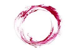 Mancha del vino rojo Chapoteo del vino del rastro fotos de archivo
