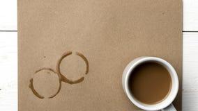 Mancha do copo de café Fotografia de Stock