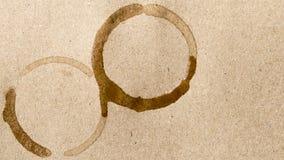 Mancha do copo de café Imagens de Stock