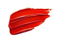 Mancha roja del lápiz labial Fotos de archivo libres de regalías