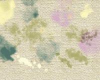 Mancha seca de las pinturas acrílicas Fondo pintado a mano abstracto creativo Movimientos de pintura de acrílico en lona Arte mod foto de archivo libre de regalías