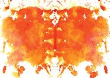 mancha simétrica de Rorschach da aquarela Foto de Stock Royalty Free
