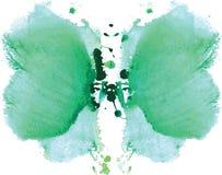 mancha simétrica de Rorschach da aquarela Fotografia de Stock Royalty Free