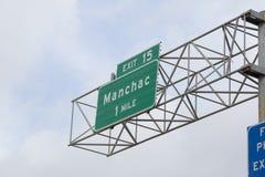 Manchac Sign Royalty Free Stock Photo