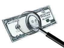 Manchando uma nota de dólar falsificada Fotos de Stock