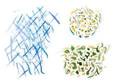 Manchas blancas /negras abstractas coloridas de la acuarela Fotografía de archivo libre de regalías