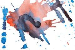 Manchas blancas /negras abstractas de la acuarela Foto de archivo libre de regalías