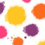 Manchas blancas /negras calientes de la tinta de los colores Imagen de archivo libre de regalías