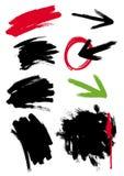 Manchas blancas /negras de Grunge, puntos, marco
