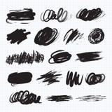 Manchas blancas /negras de la oscuridad Manchas del garabato Imagen de archivo libre de regalías