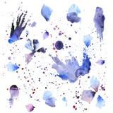Manchas blancas /negras de la pintura Fotografía de archivo libre de regalías