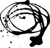 Manchas blancas /negras de la tinta Fotografía de archivo libre de regalías