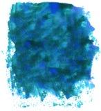 Manchas blancas /negras de la tinta azul Foto de archivo