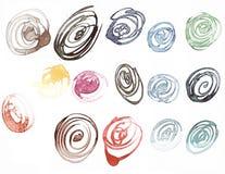 Manchas blancas /negras de la tinta de Watercolored Foto de archivo
