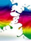 Manchas blancas /negras del arco iris Fotos de archivo