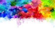 Manchas blancas /negras del arco iris Fotografía de archivo