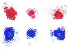 Manchas blancas /negras del granero Imagen de archivo libre de regalías