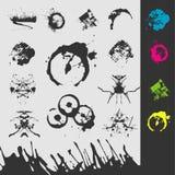 Manchas blancas /negras del vector foto de archivo libre de regalías