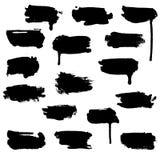 Manchas blancas /negras del Water-colour Imagen de archivo libre de regalías