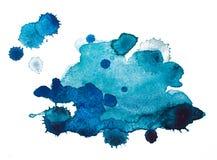 Manchas blancas /negras del Watercolour fotos de archivo libres de regalías