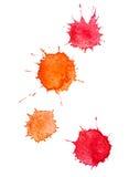 Manchas blancas /negras del Watercolour Fotografía de archivo libre de regalías