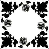 Manchas blancas /negras negras 2 de la tinta Foto de archivo