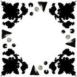 Manchas blancas /negras negras 4 de la tinta Foto de archivo