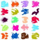 Manchas brillantemente coloreadas de la pintada fijadas libre illustration